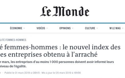 Interview de Christine BOULAY pour LE MONDE du 1er mars 2019